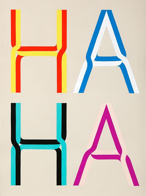 HAHA by Tauba Auerbach – gouache on paper