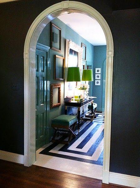 dark walls: Interior, Blue, Colors, Wall Color, Space, Entryway, Painted Floors