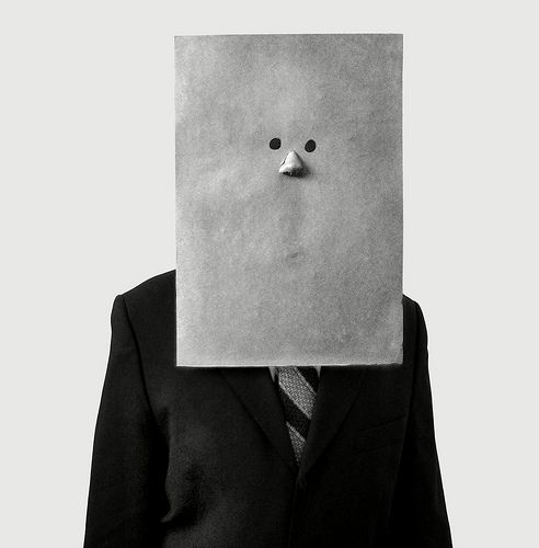 Irving Penn - Saul Steinberg In Nose Mask (1966) #mask