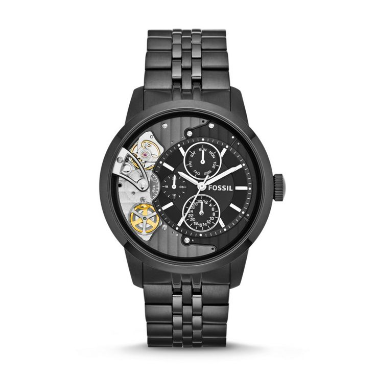 Fossil Townsman Multifunction Stainless Steel Watch - Black ME1136 | FOSSIL®