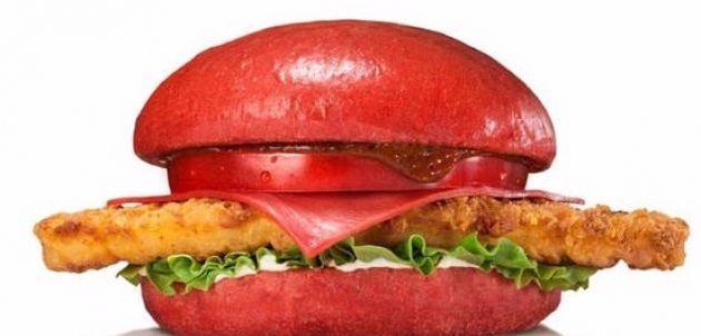 Burger King Japón venderá hamburguesas rojasHamburguesa: Pollo Samurai. Imagen de Burger King Japón