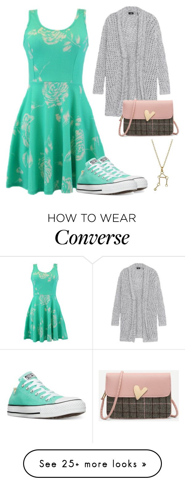 """""""Spring Dress"""" by camrynmarie22 on Polyvore featuring Line, Converse and Bling Jewelry"""
