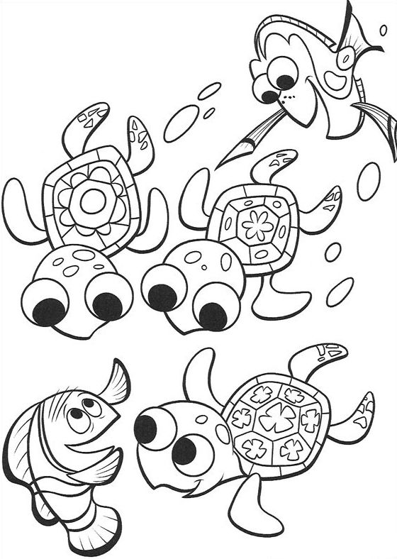 15 best coloring pages images on Pinterest Coloring books, Finding - fresh coloring pages of nemo and friends