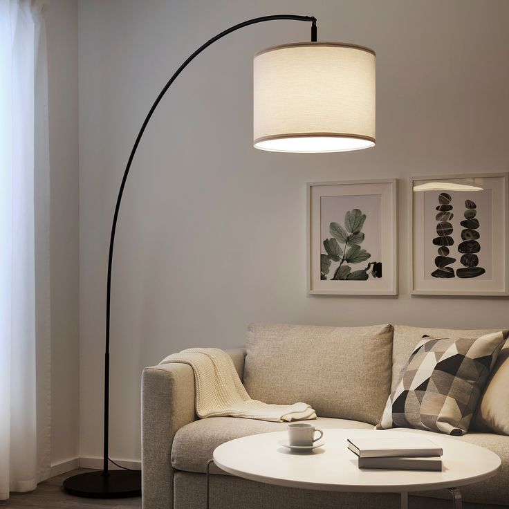 SKAFTET Lattiavalaisimen jalusta, kaareva, musta IKEA in