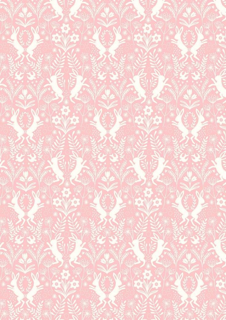 A64.5 - Little Hares White On Pink from Salisbury Spring