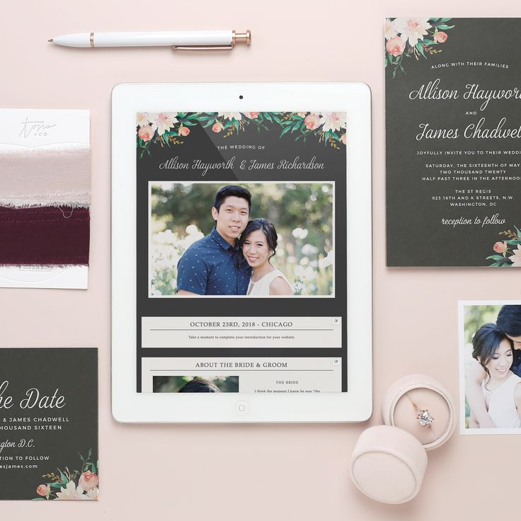 5 reasons why a gorgeous wedding website will make wedding planning a breeze. #sponsored #wedding