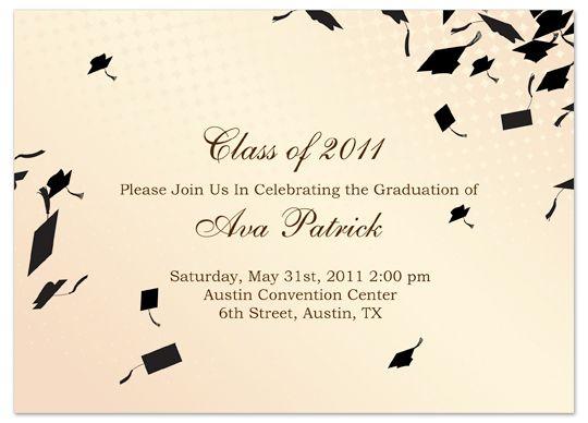 Best 25 Graduation invitation templates ideas on Pinterest