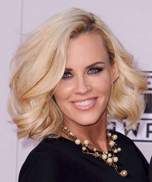 Jenny McCarthy Medium Wavy Hairstyle.