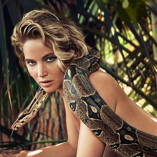 Jennifer Lawrence Bares All — With a Boa Constrictor! - where is her @aromaflage?