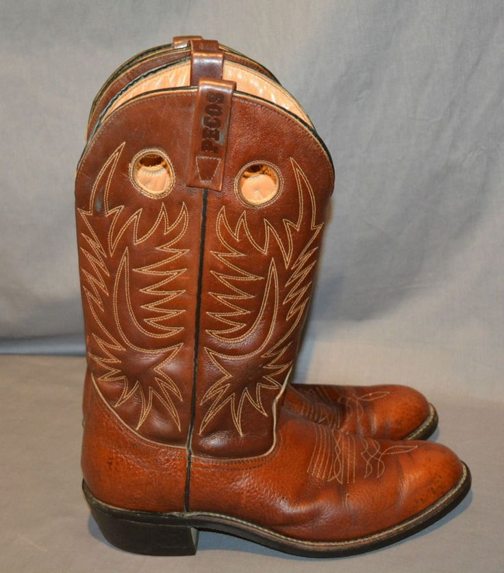 Rare Red Wing Pecos Soft Toe Cowboy Rancher Motorcycle 2 Hole Pull Boots Sz 10 A #RedWing #CowboyWesternWork