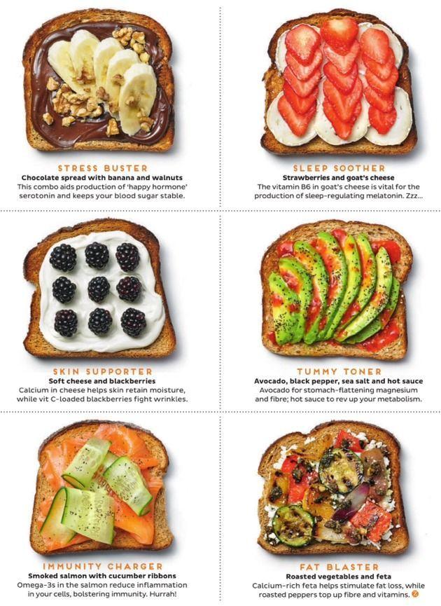 Healthy, nutritional, delicious breakfast toasts //
