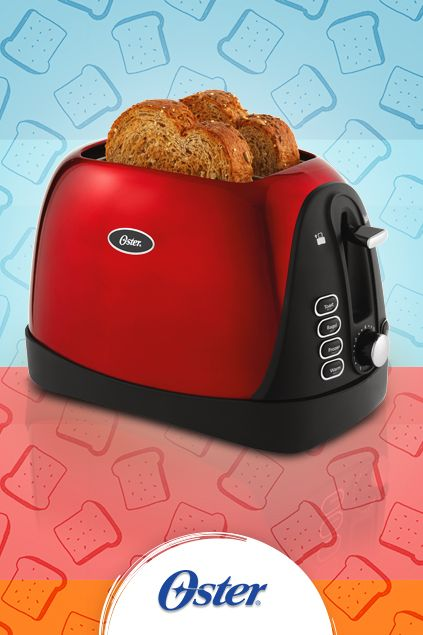 Start your day with toast made your way with this festive Oster® 2-Slice Toaster complete with 7 settings to suit your tastebuds. #OsterKitchen