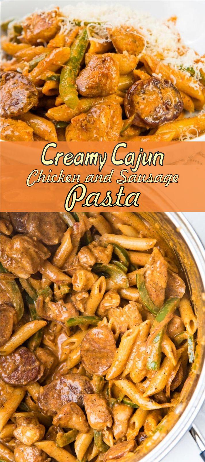 Creamy Cajun Chicken and Sausage Pasta | Floats CO…