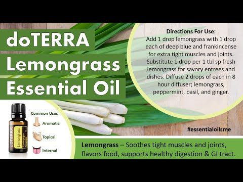 Great doTERRA Lemongrass Essential Oil Uses - YouTube