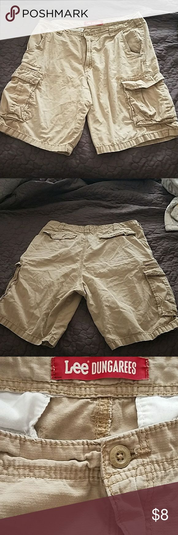 Mens Lee Dungarees Cargo Shorts Sz 36 Cargo shorts. Gently used and in good condition. dark Khaki color. Lee Shorts Cargo