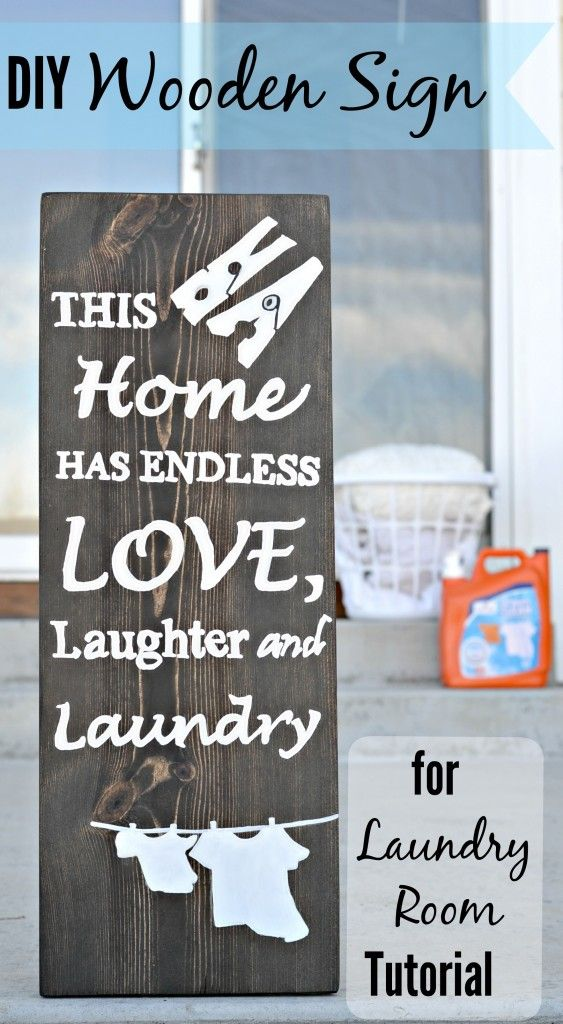 Looking to decorate your laundry room? This is an inexpensive, yet cute way to do it!