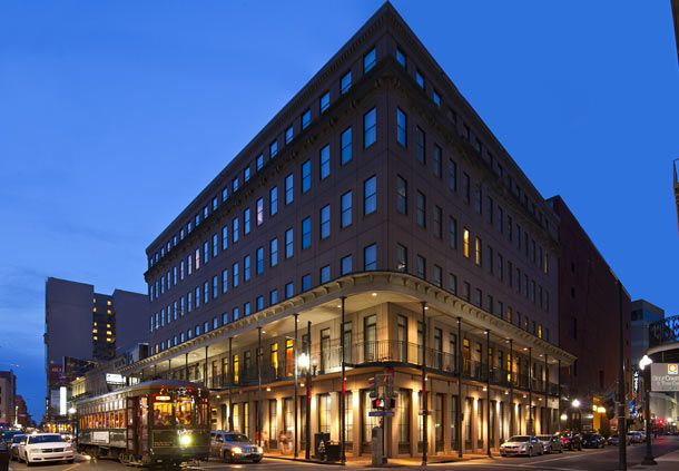 Courtyard Marriott Downtown near French Quarter will sleep family of 3