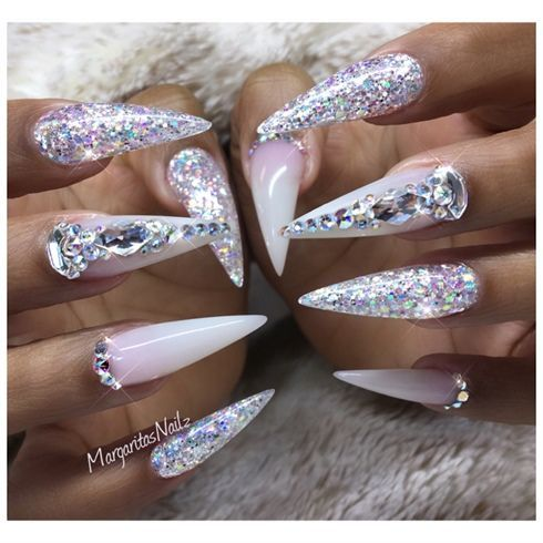 Bling Stiletto Nails  by MargaritasNailz