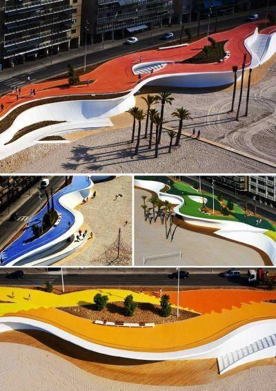 OAB - Carlos Ferrater || Paseo Maritimo de la Playa de Poniente (Benidorm, España)