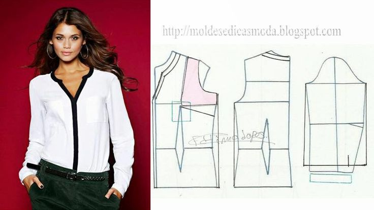 BLOUSE PROCESSING - 5 ~ Templates Fashion by Measure
