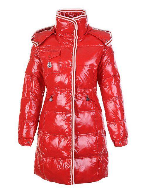 Moncler jacke sale - Moncler Damen High Density Lange Jacken Rot Neue