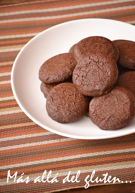 Más allá del gluten...: Galletas de Almendras y Chocolate (Receta GFCFSF, Vegana)