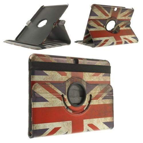 Mesh - Samsung Galaxy Tab 4 10.1 Hoes - Rotatie Cover Britse Vlag | Shop4TabletHoes