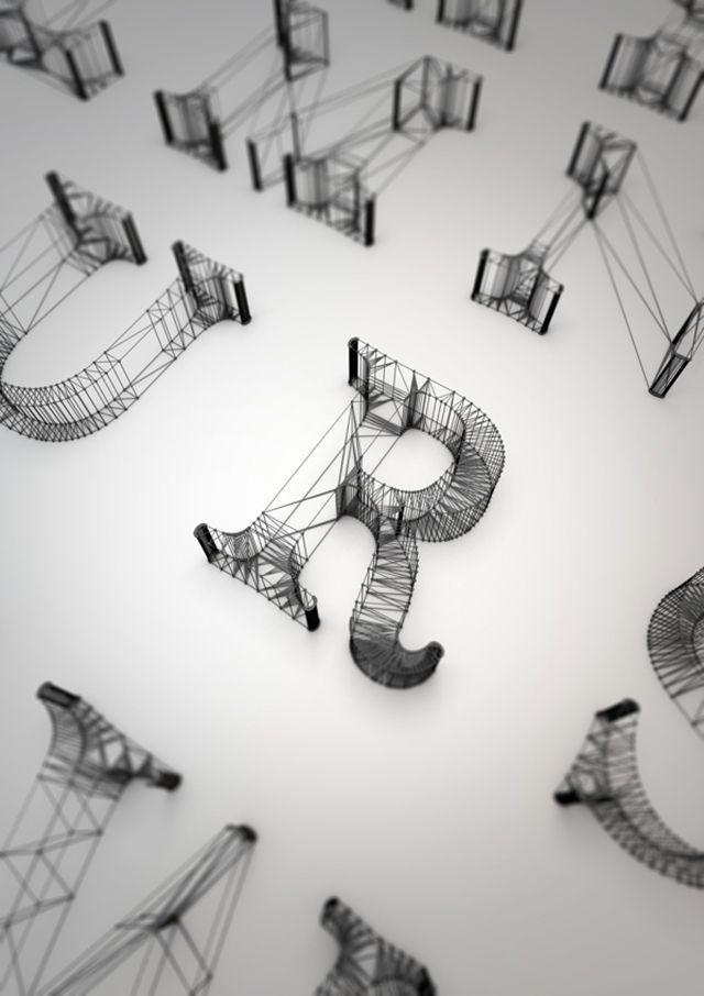 Dan Hoopert Wire Typography.