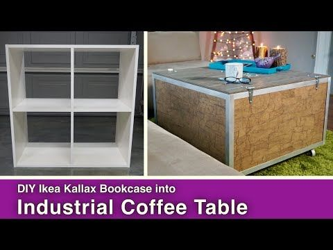 Ikea Hack: Rustic Coffee Table with Storage - Mother Daughter Projects