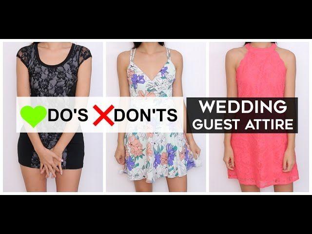 66380d3db1a5 Do s   Don ts - Wedding Guest Attire