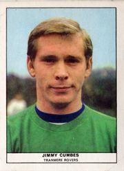 Tranmere Rovers goalkeeper Jimmy Cumbes in 1969.