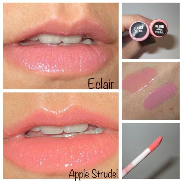 nyx butter gloss eclair apple strudel swatch review