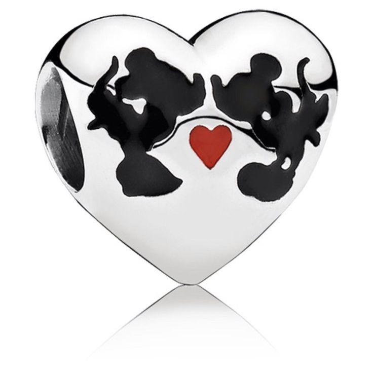 Authentic Disney Pandora Minnie and Mickey Charm #791443ENMX NEW Sterling #Pandora