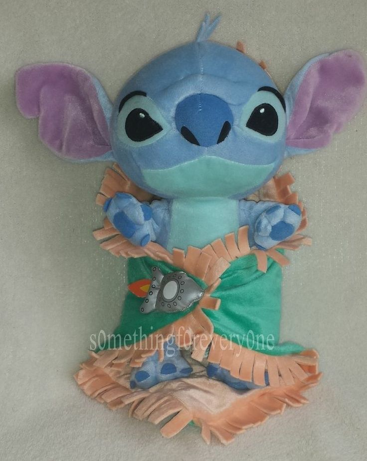 Disneyland Disney Babies Baby Stitch With Blanket Plush