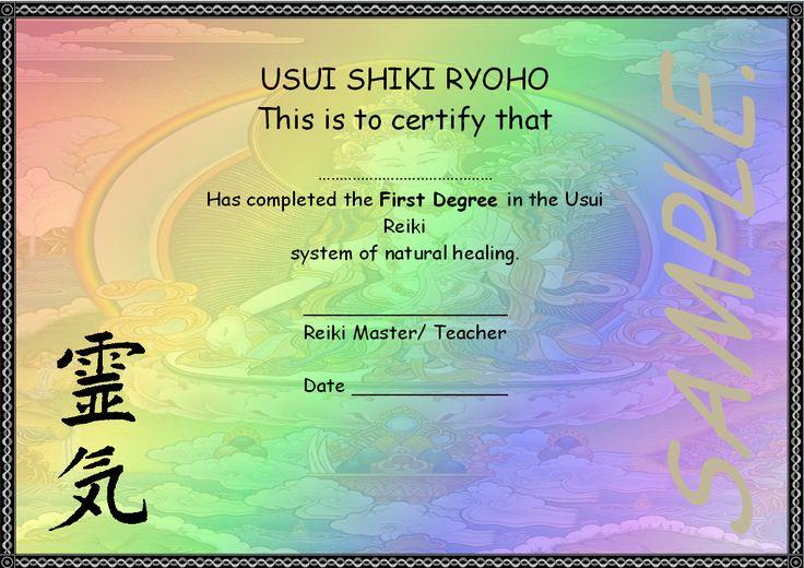 Reiki Certificate Template Free Download