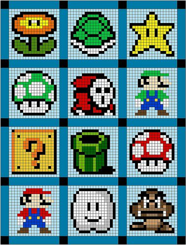 mario quilt | Flickr - Photo Sharing!