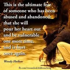Image result for fragile people and fear of abandonment quotes