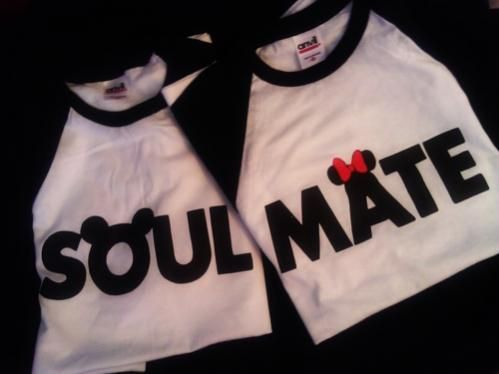 :): Disney Shirts, Disney Honeymoons, Couple Shirts, Disney Couple, Soul Mates, Disney Trips, Minnie Mouse, Soulmate, T Shirts