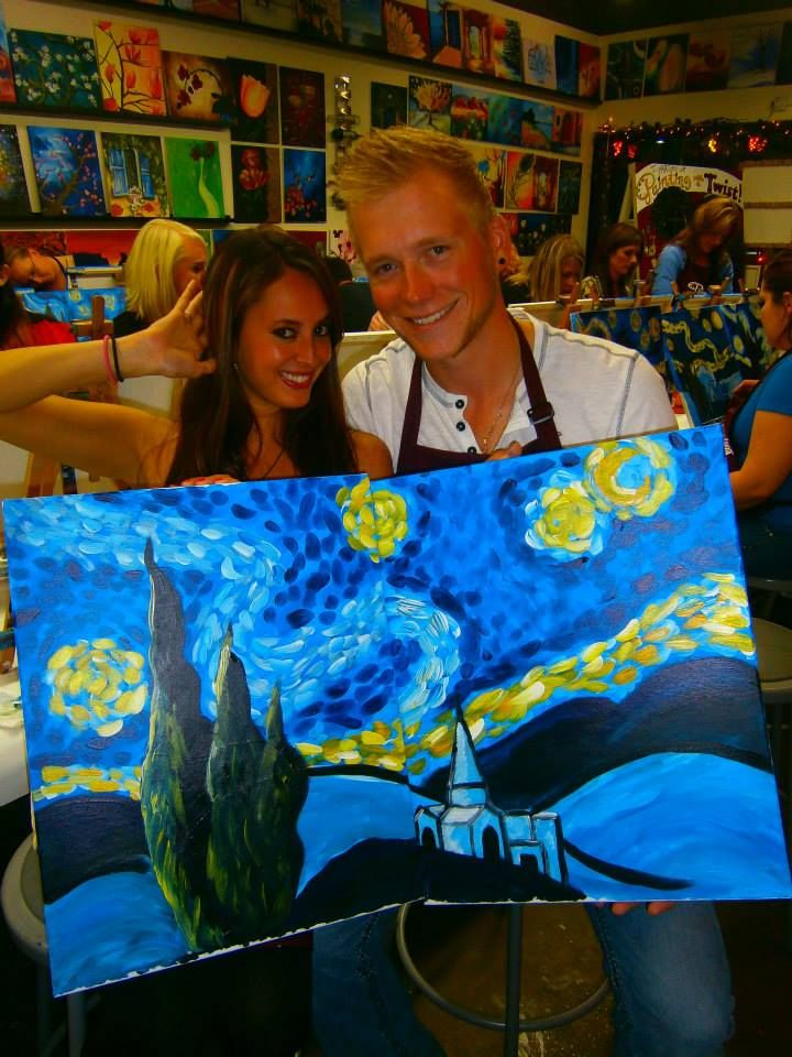 9 best date night images on pinterest be my valentine for Painting with a twist charlotte nc