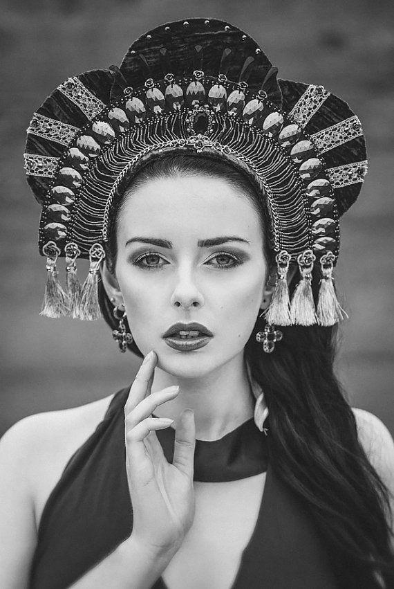 A million yeses // Royal Couture 'Empress' Kokoshnik Headdress by livfreecreations, £130.00
