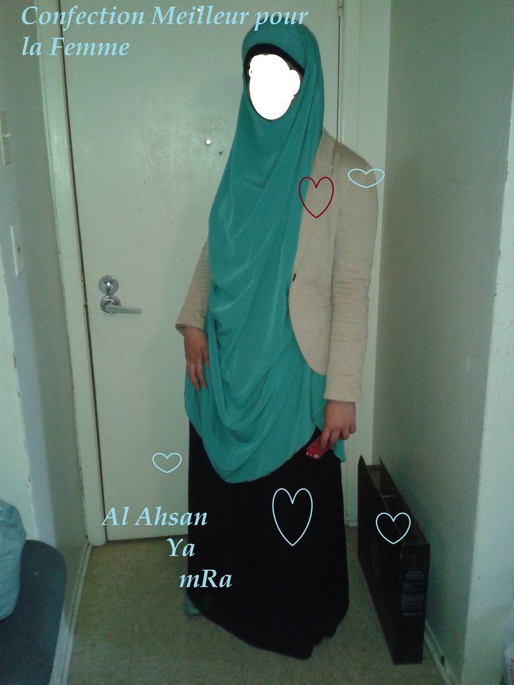 jilbab  a porter avec jupe ou pants