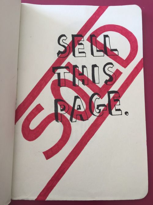 Wreck this journal | Sell this page