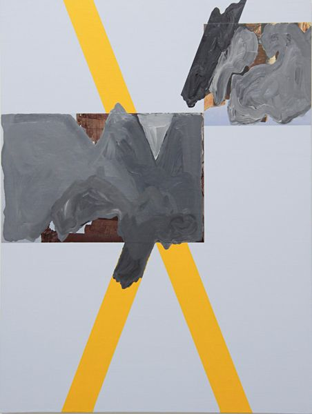 Sean Bailey, Sigillum X, 2013, synthetic polymer paint and collage on linen board, 61 x 46 cm