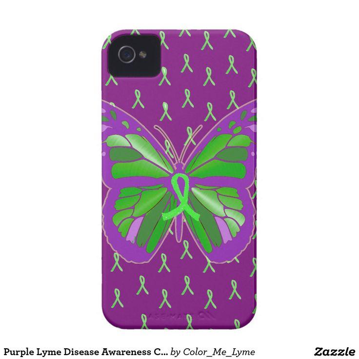 Purple Lyme Disease Awareness Cell Phone Case