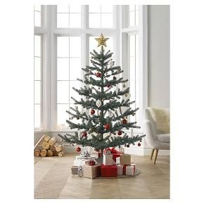 "Another look at the loosely decorated ""5ft Unlit Artificial Christmas Tree Balsam Fir"" at Target now $75 sale price"