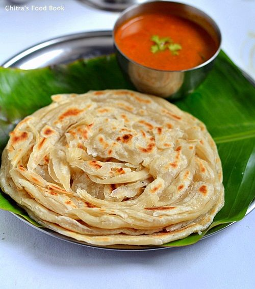Chitra's Food Book: Parotta Recipe-How To Make Kerala Malabar Parotta(...