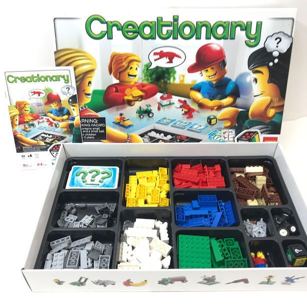 LEGO Creationary 3844 Board Game 100% Complete Set Retired Manual Excellent 2009