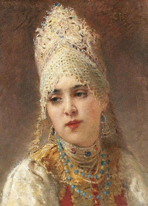 Russian beauty in painting by K.E. Makovsky: