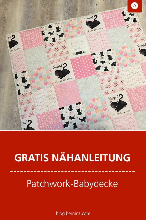 "Sewing instructions Baby blanket ""Easy Patchwork"" – ideal for sewing beginners!"
