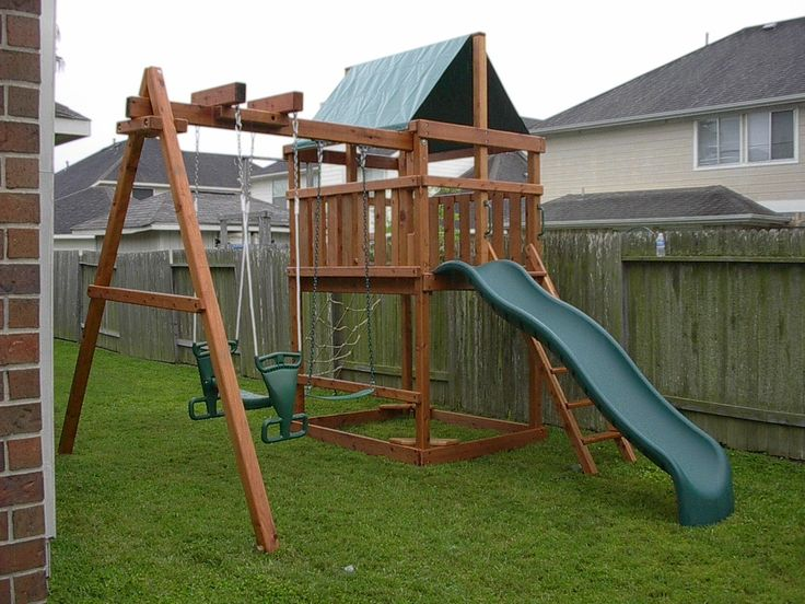 25 best ideas about swing set plans on pinterest wooden for Wooden swing set plans
